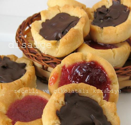 reçelli ve çikolatalı kurabiye1