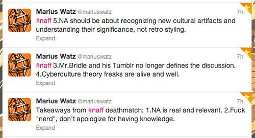 Marius Watz NAFF tweets