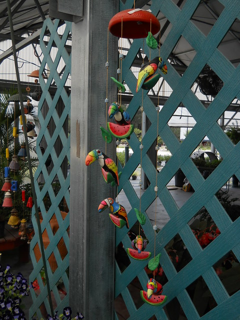 Toucan and watermelon hanging decorations