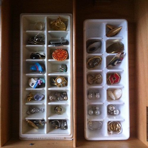 My Mom's Jewelry Organizers: Ice Cube Trays