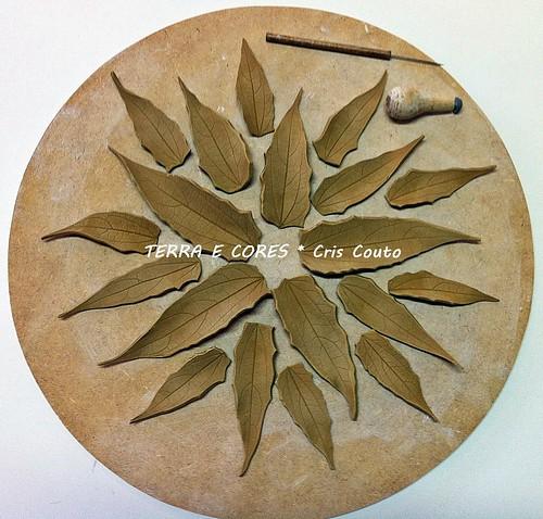 Folhas em Terracotta - Modelagem by cris couto 73