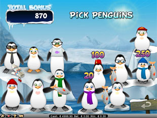 Icy Wonders bonus game