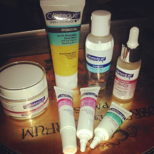 Celeteque Dermoscience products I first used last night