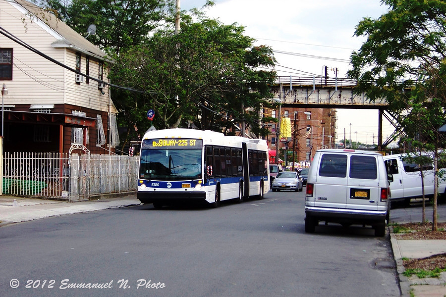 MTA NovaBus LFS Artic 5780 on the Bx9