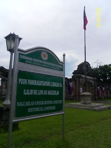 NHI sign at Nagcarlan Underground Cemetery