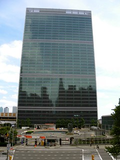 Image of United Nations Headquarters near Long Island City. nyc newyorkcity usa newyork architecture manhattan politics modernism midtown un 1950s unitednations diplomacy generalassembly