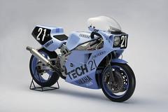 8耐で輝きを放ったレーシングマシンYAMAHA FZR750(OW74)<1985>ケニー・ロバーツ平 忠彦