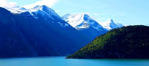 無料写真素材, 自然風景, 山, 風景  ノルウェー, パノラマ