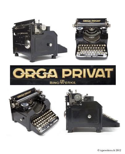 Orga Privat typewriter