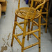 Tall cane bar stool