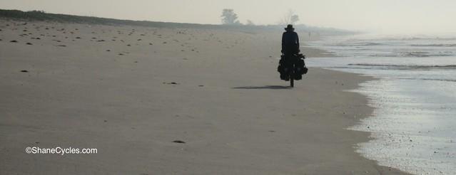 Mozambique beach cycling