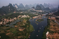 Karst Landscape around Yangshuo in Guangxi-China