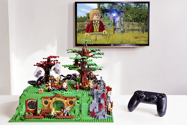 Custom PlayStation 4 Celebrates LEGO The Hobbit Launch