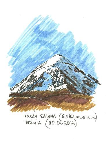 Volcán Sajama (6.542 m.s.n.m.)