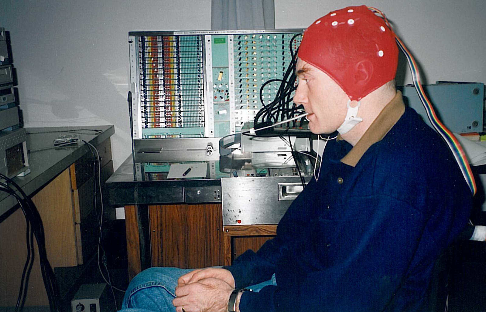 Gary Birch demonstrates the Brain-Computer Interface Project.