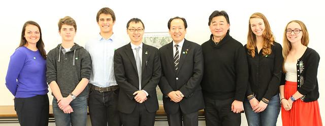 Team #TGSTohoku with Mayor Futoshi Toba and Deputy Mayor Takashi Kubota (Rikuzentakata, Japan)