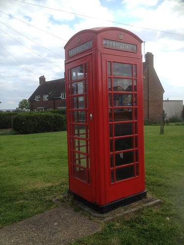Telephone box book exchange, Woodham Ferrers, Essex (South)