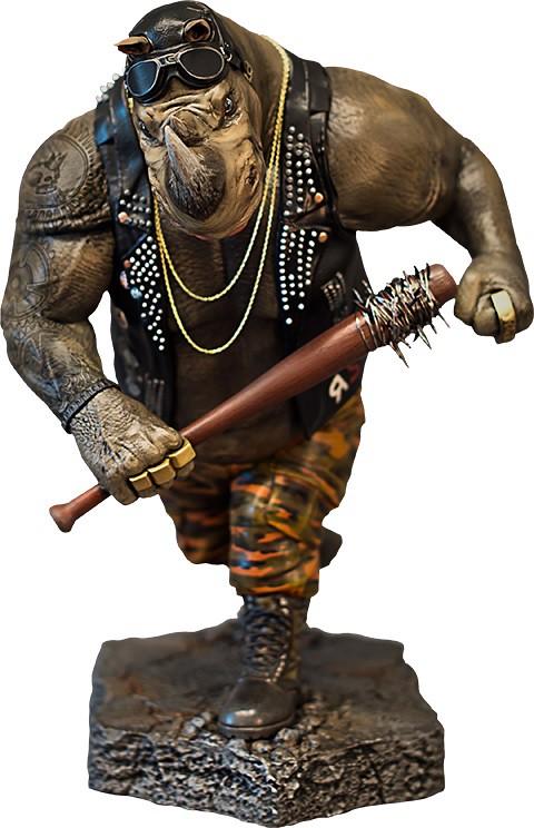 Vault Productions 忍者龜:破影而出【洛克】Rocksteady 1/5 比例全身雕像作品