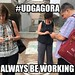 #UDGAgora People are Always Working by cogdogblog