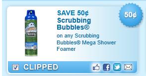 Scrubbing Bubbles Shower Foamer Coupon