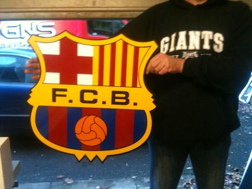 BARCELONA FC WALL PLAQUE
