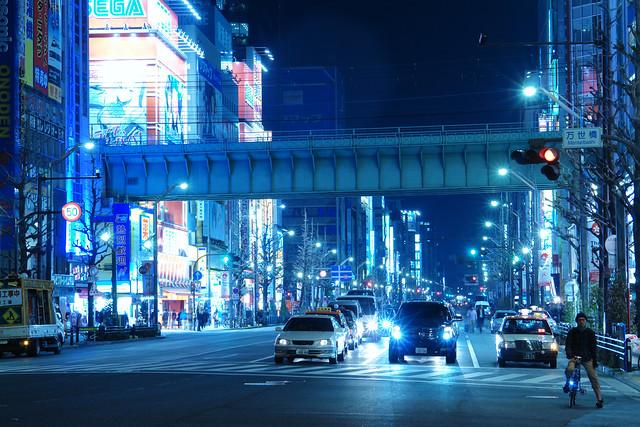 Akihabara main street (white balance color check!)