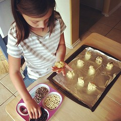 Chocolate chip cookies of three varieties :) #homeschool is so tasty fun!