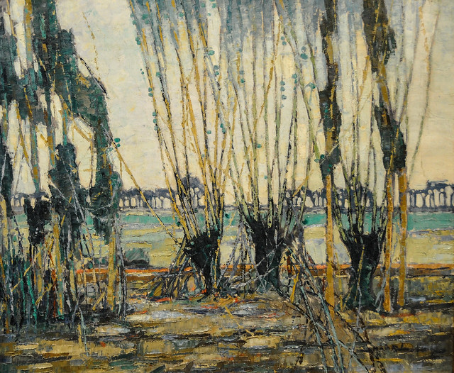 Hale woodruff normandy landscape 1928 at baltimore for Atlanta oil painting artists