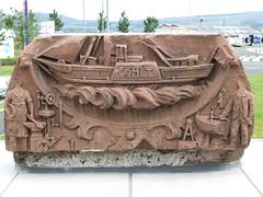 Memorial stone to P.S. Comet