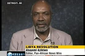 Abayomi Azikiwe, editor of the Pan-African News Wire, speaking on Press TV about the U.S.-NATO war against the North African state of Libya. Azikiwe appears frequently on international media as analyst of Washington's foreign policy. by Pan-African News Wire File Photos