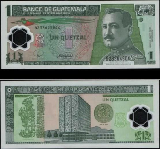 1 Quetzal Guatemala 2008, polymer