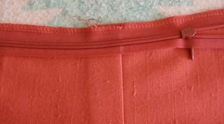 zipper seam mark