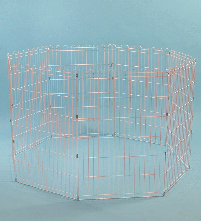 """New 42"""" Pet Dog Cat Small Animals Exercise Pen 8 Panels Playpen Fence"""