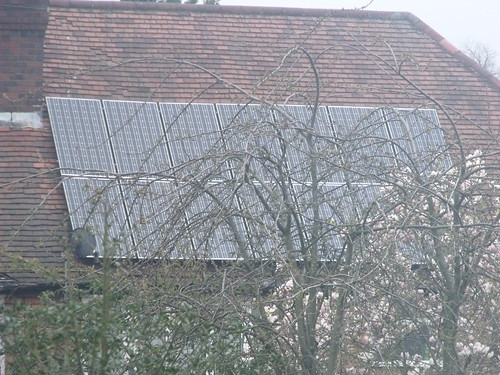 Solar panels - on a roof in Hall Green