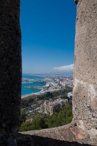Vistas de Málaga desde el Castillo