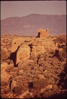 Ancient Indian dwellings, built between 1100 and 1300 A.D.. Hovenweep National Monument, 05/1972.