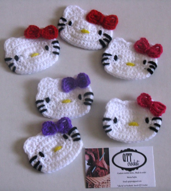 Crochet Patterns For Hello Kitty : CROCHET - Kitty Faces Flickr - Photo Sharing!