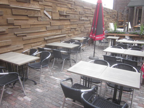 historic Distillery District, Mill St patio in the
