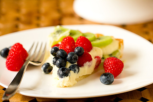 Slice of Fresh Fruit & Pastry Cream Tart-550