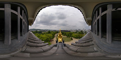 On the roof of the Okayama Castle
