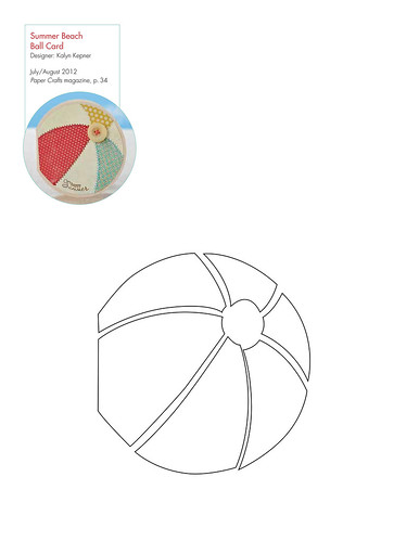 Pattern for Summer Beach Ball Card