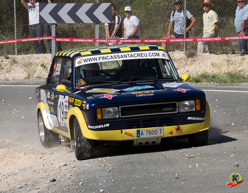 Tomás Jordá y Adrián Barbantán. Rallye Go Karts Orihuela Costa.