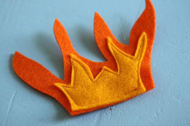 Rocket Pillow - sew flames