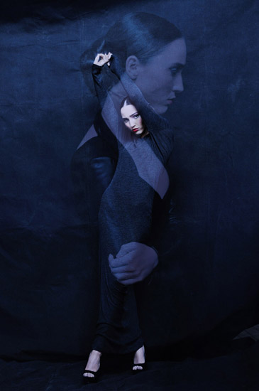 In Development, a stark Black on Black Studio Fashion Editorial. Photographed in Sydney by Kent Johnson.