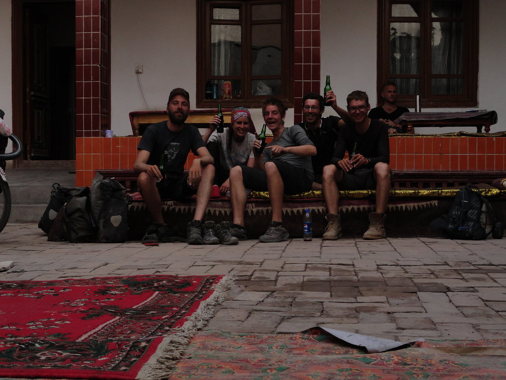 La companyia ciclista a Kashgar (Xinjiang, Xina)