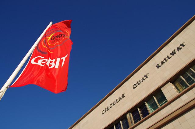 CeBIT Flag - Circular Quay