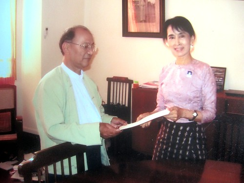 U Thein Han and Daw Aung San Suu Kyi in 2011
