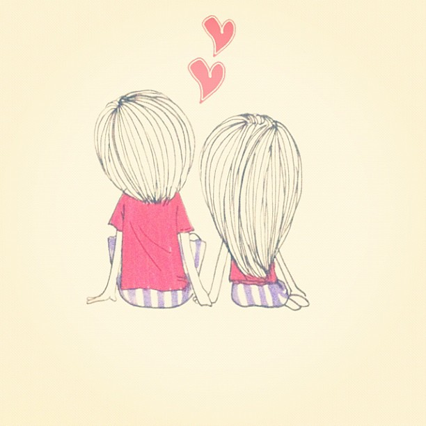 Cute best friend drawings for girls