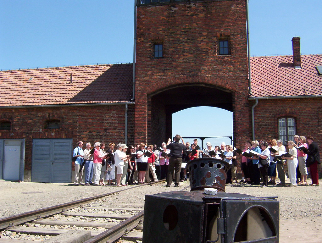 First Presbyterian Church of Bellevue performs songs of remembrance at Auschwitz