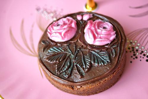 Pink Roses Brownie